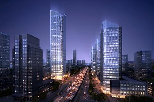 南京国际航运中心玻璃幕墙设计工程