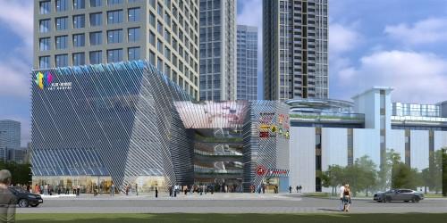邵阳大汉商业步行街幕墙设计